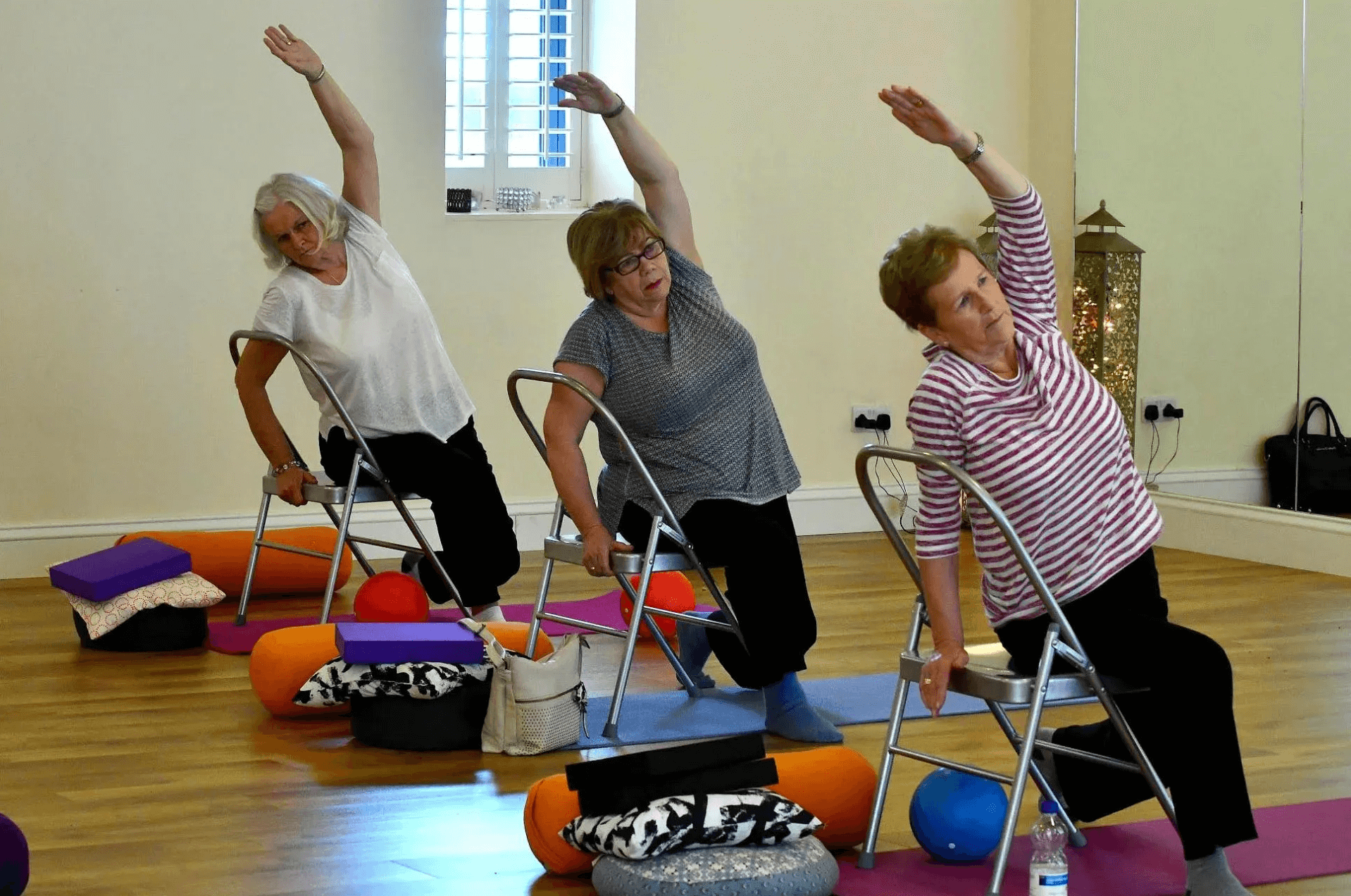Chair Yoga from Studio to Care/Nursing homes